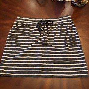 Gray and white striped skirt. Size Small.